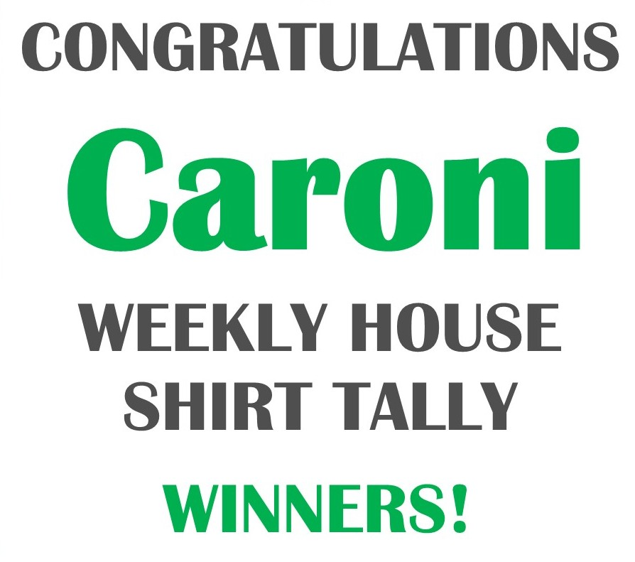 Caroni Wins Online House T-Shirt Tally
